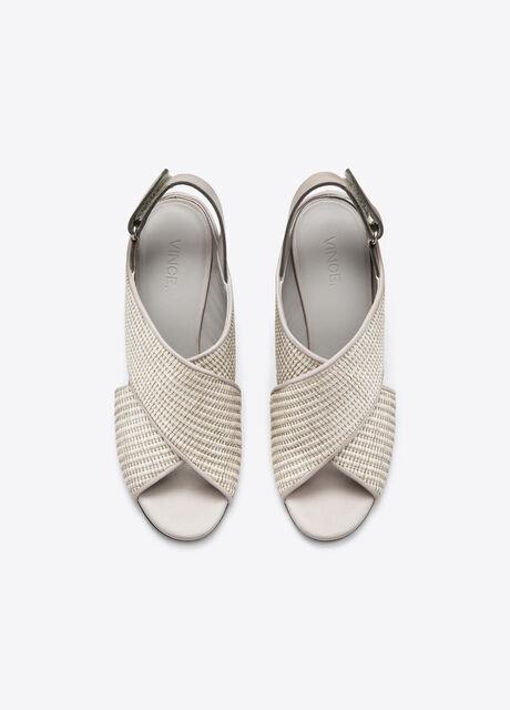 Faine Mixed Media Peep-Toe Sandal