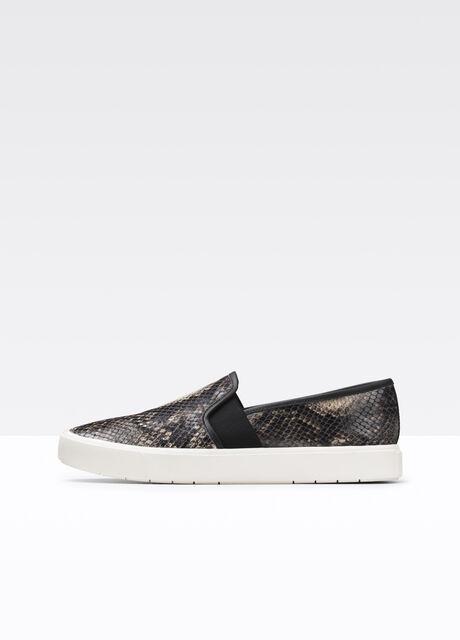 Blair Snake Print Leather Sneaker