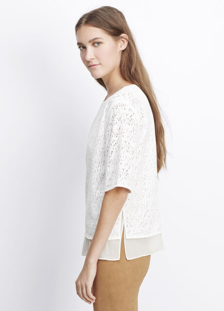 Lace Elbow Sleeve Top
