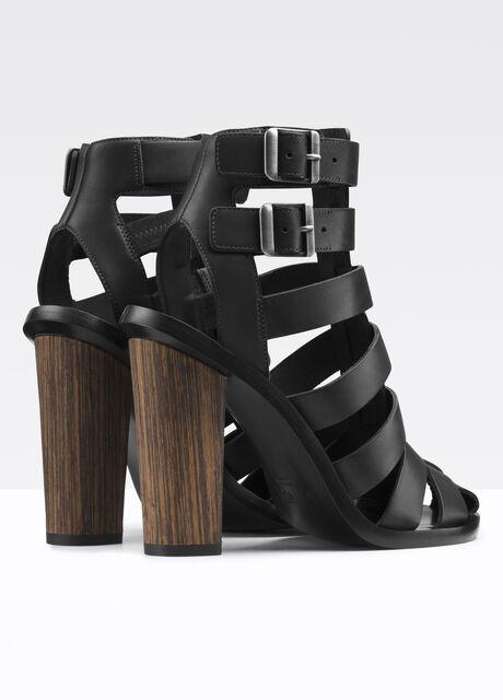 Nicolette Caged Leather Heeled Sandal