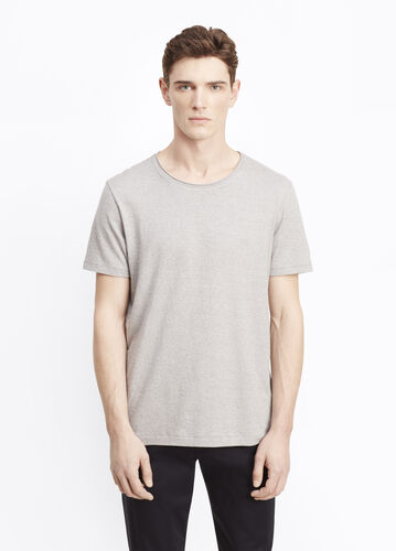 Rustic Mouline Cotton Crew Neck Tee