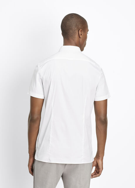 Stretch Cotton Short Sleeve Button Up