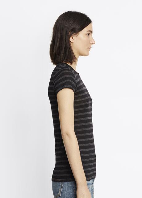 Stripe Slub Short Sleeve Tee