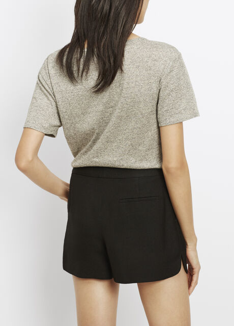 Scalloped Hem Tailored Short