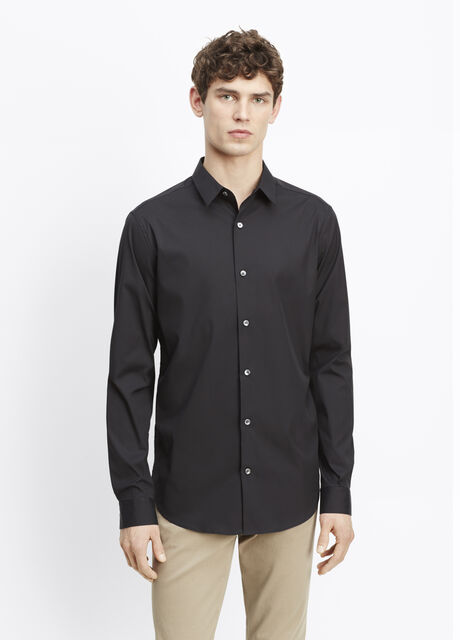 Stretch Poplin Button Up