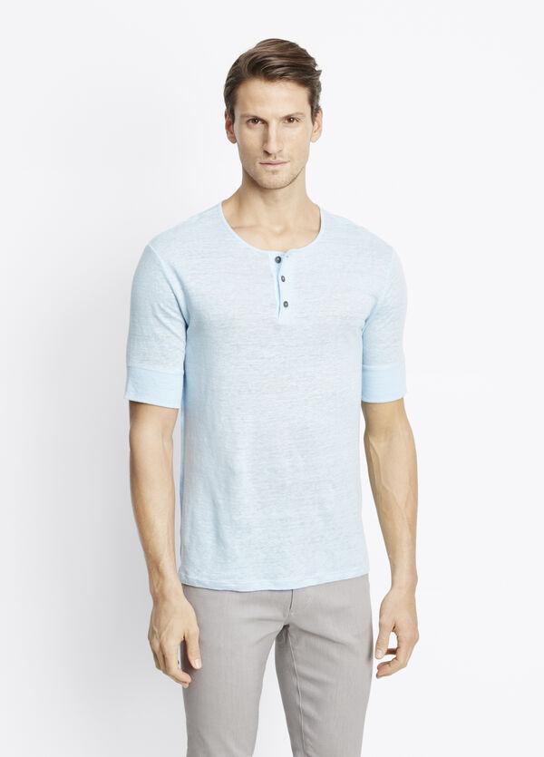 Linen Jersey Short Sleeve Henley