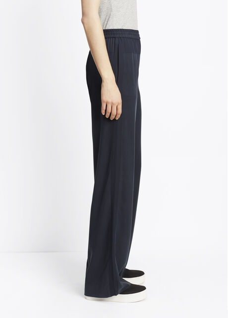 Blocked Silk Wide Leg Pants