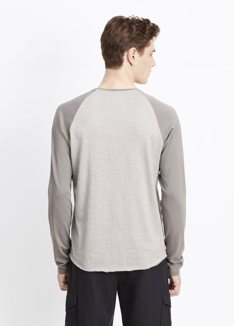 Rustic Mouline Cotton Long Sleeve Baseball Tee
