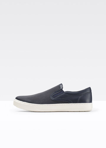 Ace Texture Blocked Leather Sneaker