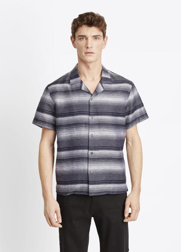 Engineered Stripe Short Sleeve Button Up