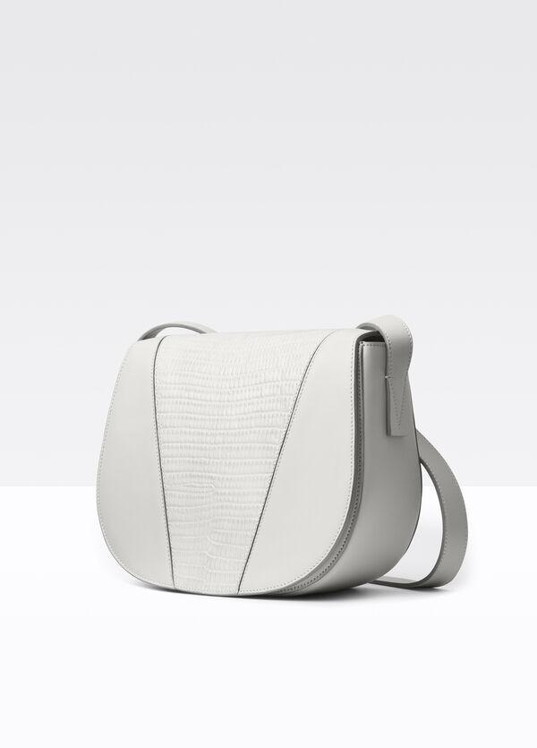 Modern V Stamped Lizard Small Shoulder Bag