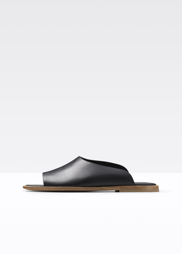 Lynnis Leather Slide