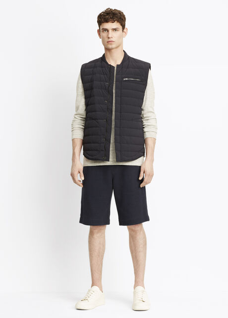 Quilted Nylon Down-Fill Vest