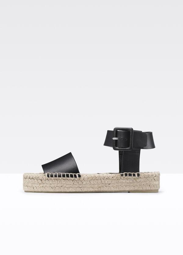 Edina Leather Espadrille Flatform Sandal