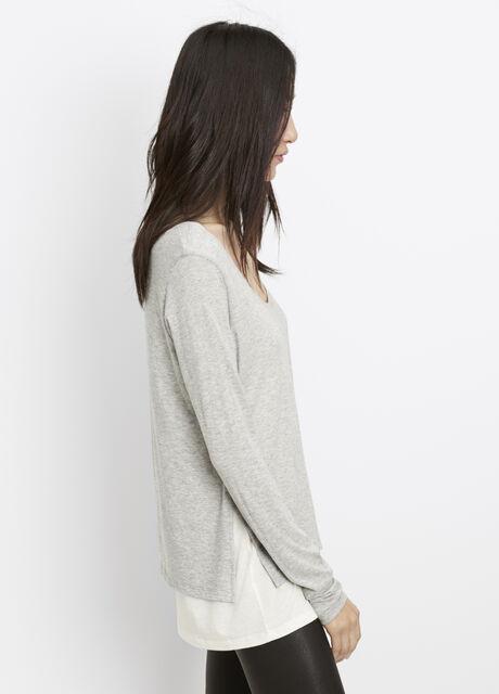 Pima Modal Double Layer Long Sleeve Tee