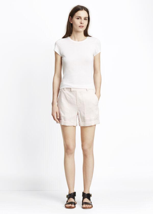 Linen Patch Pocket Shorts