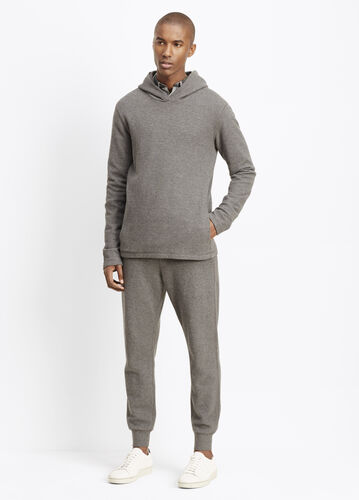 Slub Cotton Racking Stitch Thermal Hooded Sweater