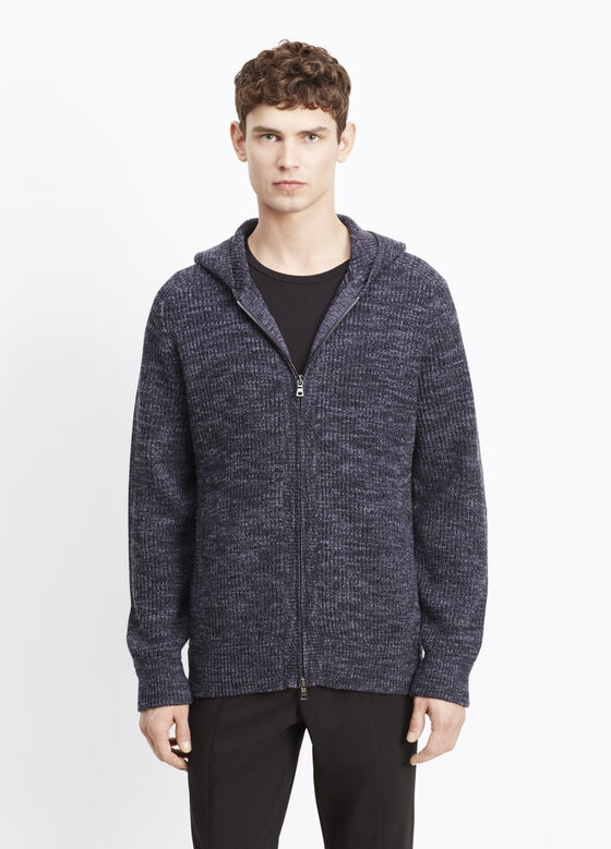 Zip Front Hooded Sweater