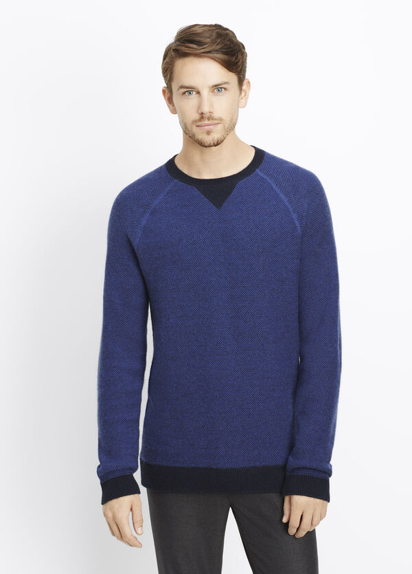 Luxe Lounge Wool Cashmere Crew Neck Sweater