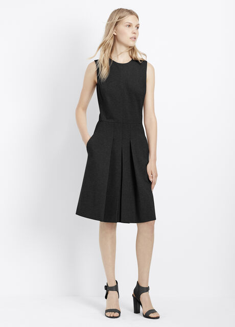 Ponte Fitted Sleeveless Dress