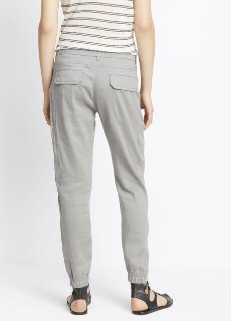 Linen Patchwork Cargo Pant