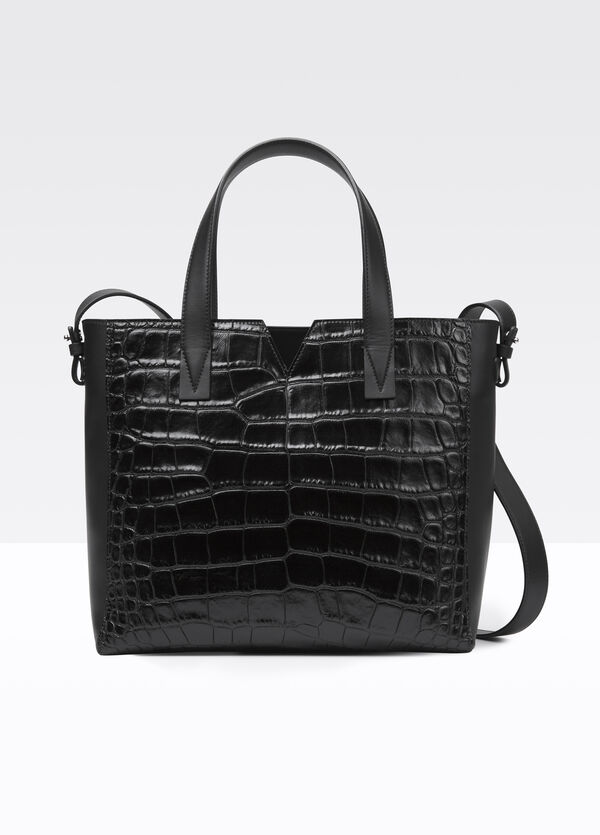 Vince Signature Collection Mixed Media Baby E/W Tote