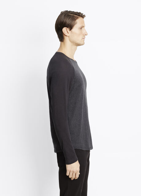 Slub Cotton Long Sleeve Raglan Tee