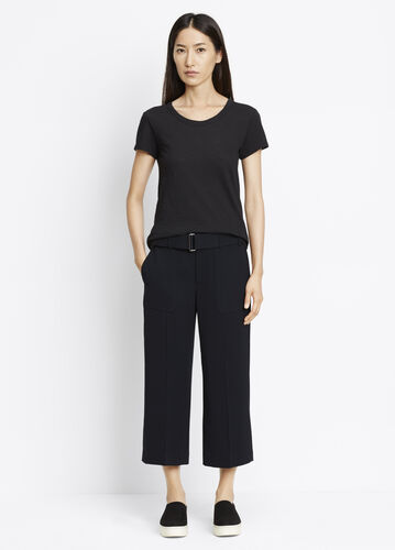 Belted Crop Trouser
