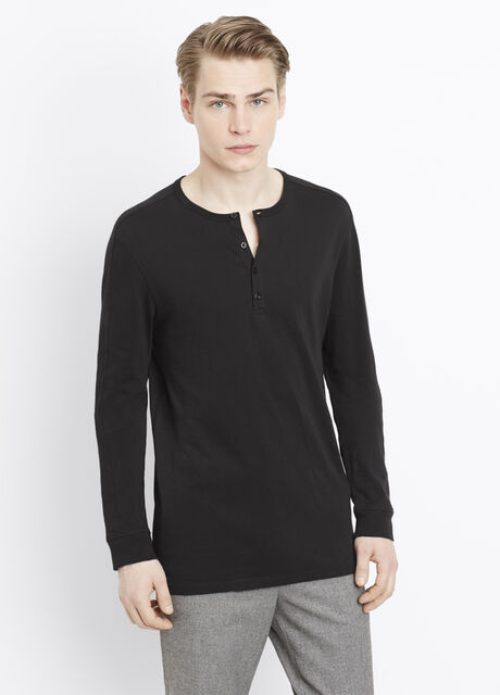 Favorite Cotton Long Sleeve Henley