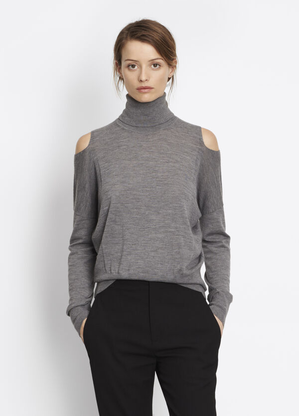 Split Shoulder Turtleneck