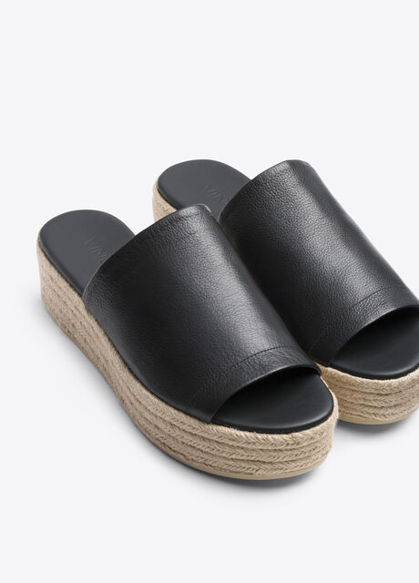 Solana Leather Espadrille Flatform Sandal