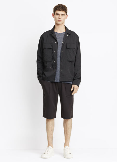 Nylon Twill Shirt Jacket