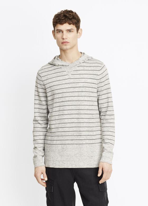 Striped Sporty Jaspé Hooded Sweater