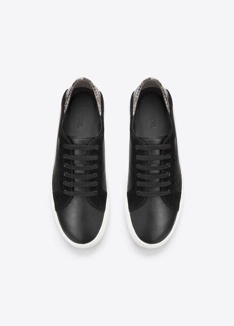 Anette Texture Blocked Leather Sneaker