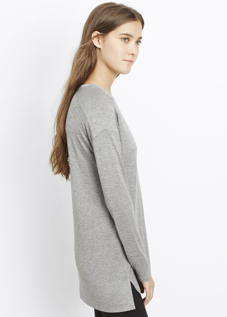 Mouline Knit Drop Shoulder Top
