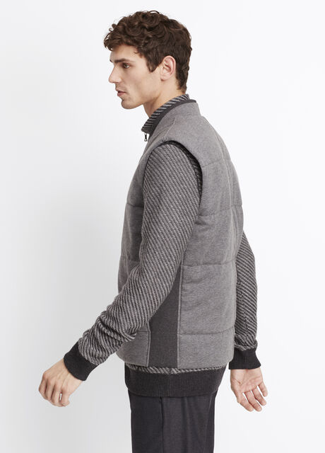 Clean Knit Quilted Vest