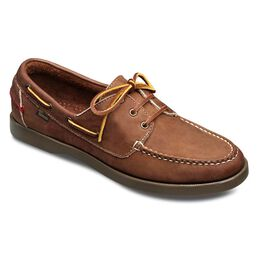 Center Fielder Boat Shoes, 41906 Dark Brown Leather, blockout