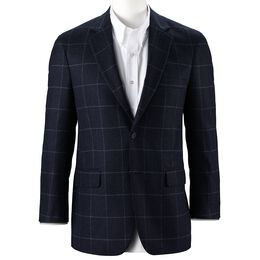 Chalk Windowpane Sport Coat, AE2042 Navy Chalk Windowpane Sport Coat, blockout