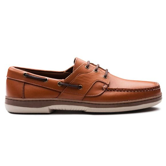 Eastport Boat Shoes, 43502 Tan Calf, blockout