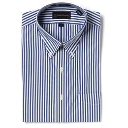Bengal Stripe Sport Shirt, Blue/White Bengal Stipe, blockout