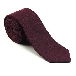 Solid Donegal Tie, 4997BUR Burgundy Solid Donegal Tie, blockout