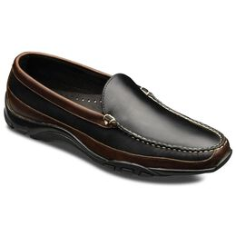 Boulder Venetian Loafers, 71801 Black Leather with Brown Trim, blockout