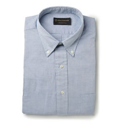 Cotton Oxford Sport Shirt, Blue Cotton Oxford Shirt, blockout