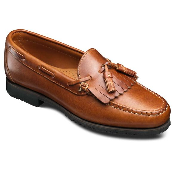 Nashua Tassel Loafers, 42252 English Tan Dublin Leather, blockout