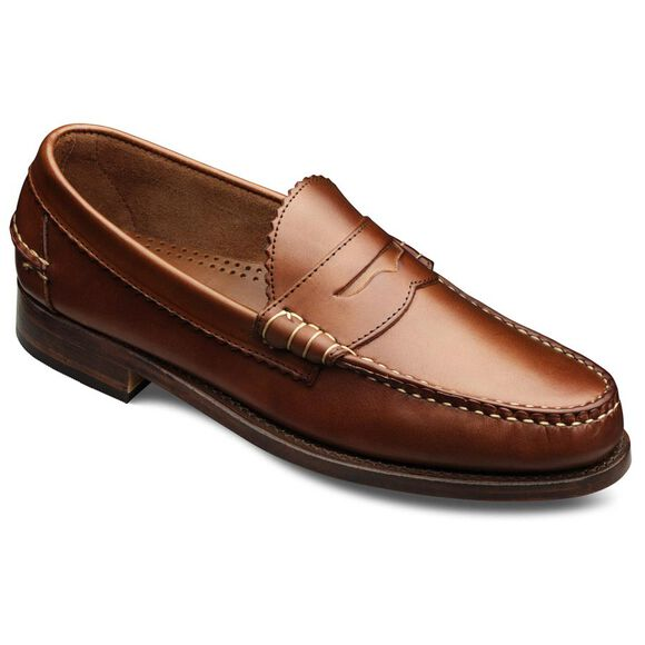 Kenwood Penny Loafers, 44000 Tan Saddle Leather, blockout
