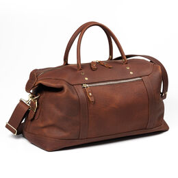 Weekend Satchel Carry On Bag by JW Hulme Exclusive for Allen Edmonds, 501AE American Bison Leather, blockout