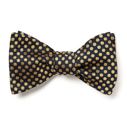 Dot Bow Tie, Navy and Gold Dot, blockout