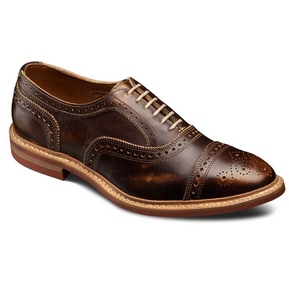 Strandmok Cap-toe Oxfords, 4027 Brown Leather, blockout