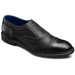 Strandmok Cap-toe Oxfords, 4026 Black Leather, blockout