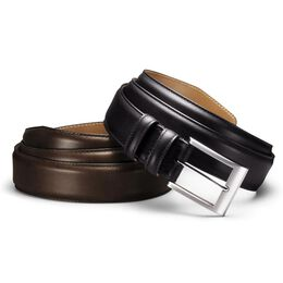 Wide Basic Dress Belt, 39501 Black Calf, blockout